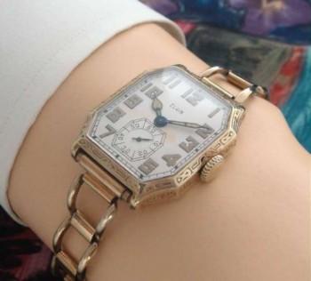 Men's 1928 Elgin Wrist Watch w/Bracelet Band