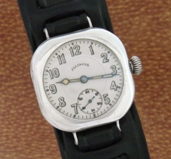 Men's 1918 Illinois Sterling Silver Wrist Watch
