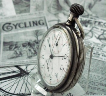 Men's 1891 Longines Bicycle Award Pocket Watch