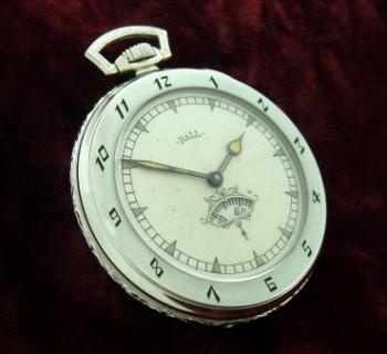 Men's 1927 Ball Watch Co. Pocket Watch w/Enamel
