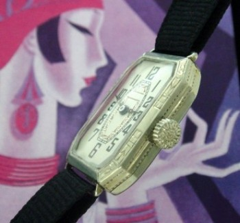 Ladies 1924 Croydon White Gold Cocktail Watch