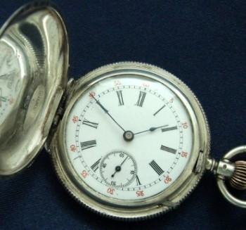 Ladies' 1890 Gallet Sterling Silver Pendant Watch w/Box