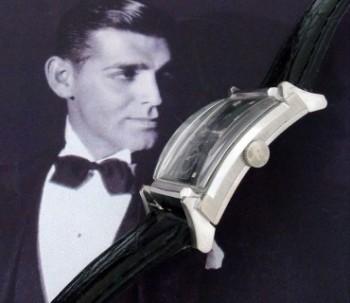 Men's 1950 Gruen Curvex in 14k White Gold