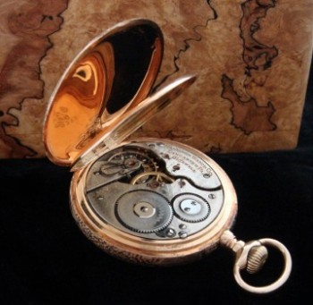 Men's 1908 Hamilton 993 Hunter Case Railroad Pocket Watch