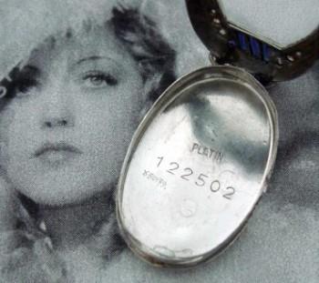 Ladies' 1925 Platinum, Diamond & Sapphire Cocktail Watch