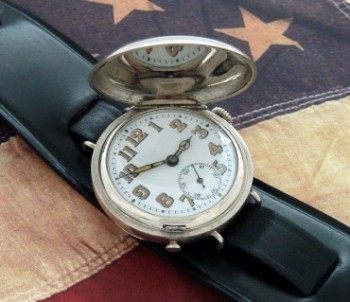 Men's 1918 Misc. Swiss Hunter Case Wristwatch