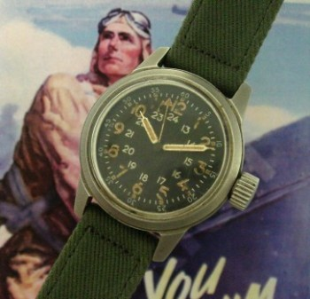 Men's 1950 Elgin A-17A Aviator's Wristwatch
