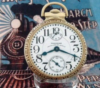 Men's 1927 Waltham Pocket Watch w/ Up-Down Indicator