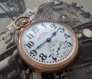 Men's 1929 Illinois Bunn Special Railroad Pocket Watch