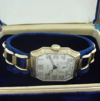 Men's 1928 Elgin Wrist Watch w/Bracelet Band