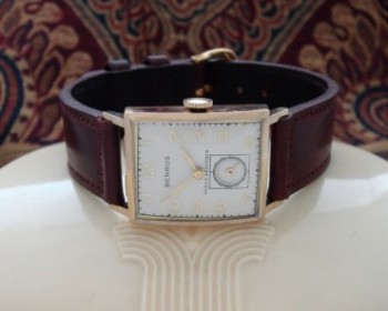 Men's 1946 Benrus Watch in 14k Rose Gold