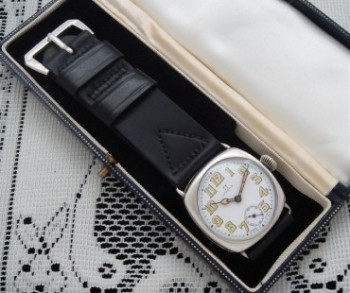 Men's 1919 Omega Military Watch in Solid Sterling