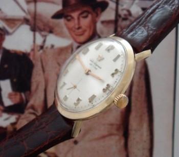 Men's 1955 Jules Jurgensen 14k Gold Dress Watch