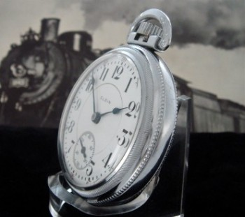 Men's 1902 Elgin Veritas Railroad Pocket Watch