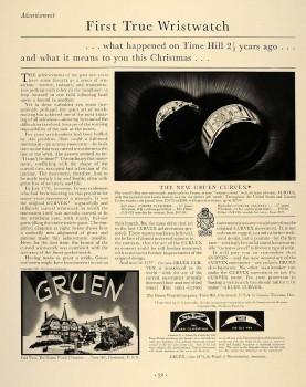 Men's 1937 Gruen Majesty Curvex with Presentation Box