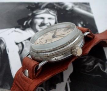 Men's 1930 Brooks/Helbros Aviator's Wristwatch