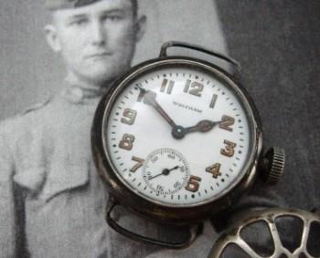 Men's 1916 Waltham Trench Watch w/Shrapnel Guard