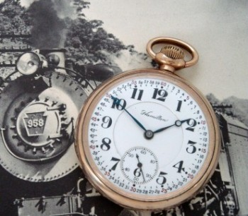 Men's 1920 Hamilton 992 Railroad Pocket Watch