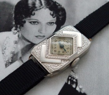 Ladies' 1931 Elgin Arts and Crafts Wristwatch w/Box