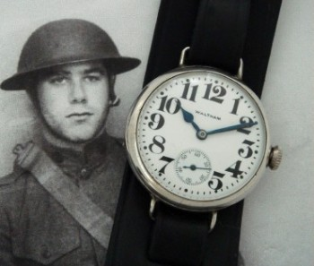 Men's 1915 Waltham Trench Watch w/Engraving