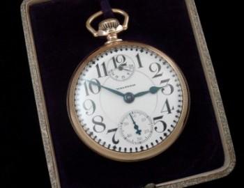 Men's 1926 Waltham Railroad Pocket Watch w/Wind Indicator