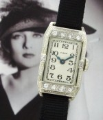 Ladies' 1930 Elgin 14k White Gold Diamond Watch