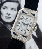 Ladies' 1925 Benrus 14k White Gold, Diamonds & Sapphires Wristwatch