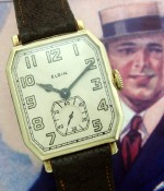 Men's 1924 Elgin Oversized 14k Dress Watch