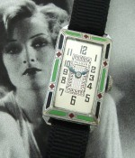 Ladies' 1924 Bulova 14k & Enamel Wristwatch