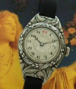 Ladies' 1912 Era Florid Art Nouveau Wristwatch