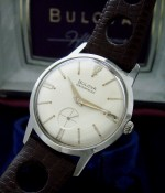 Men's 1966 Bulova Stainless Steel Wristwatch w/Boxes