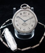 Men's 1923 Illinois Autocrat Pocket Watch w/ Chain, Box