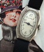 Ladies' 1930 Illinois Wire Lug and Enamel Wristwatch
