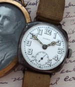Men's 1918 Patria Sterling Trench Watch - All Original