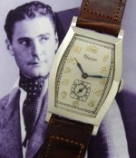 Men's 1928 Glycine Wristwatch in 14k White Gold