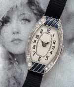 Ladies' 1925 Platinum, Diamond & Sapphire Cocktail Watch