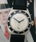 Men's 1928 Waltham White Gold & Enamel Watch