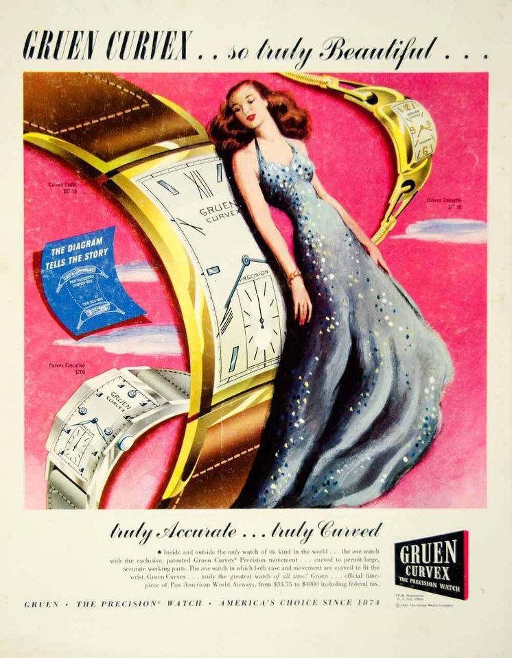 gruen curvex ad strickland vintage watches. Black Bedroom Furniture Sets. Home Design Ideas