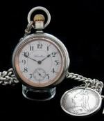 Men's 1908 Hamilton 946 Railroad Pocket Watch w/Heavy Chain