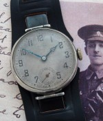 Men's 1923 Rolex Postwar Trench Watch in Sterling Silver